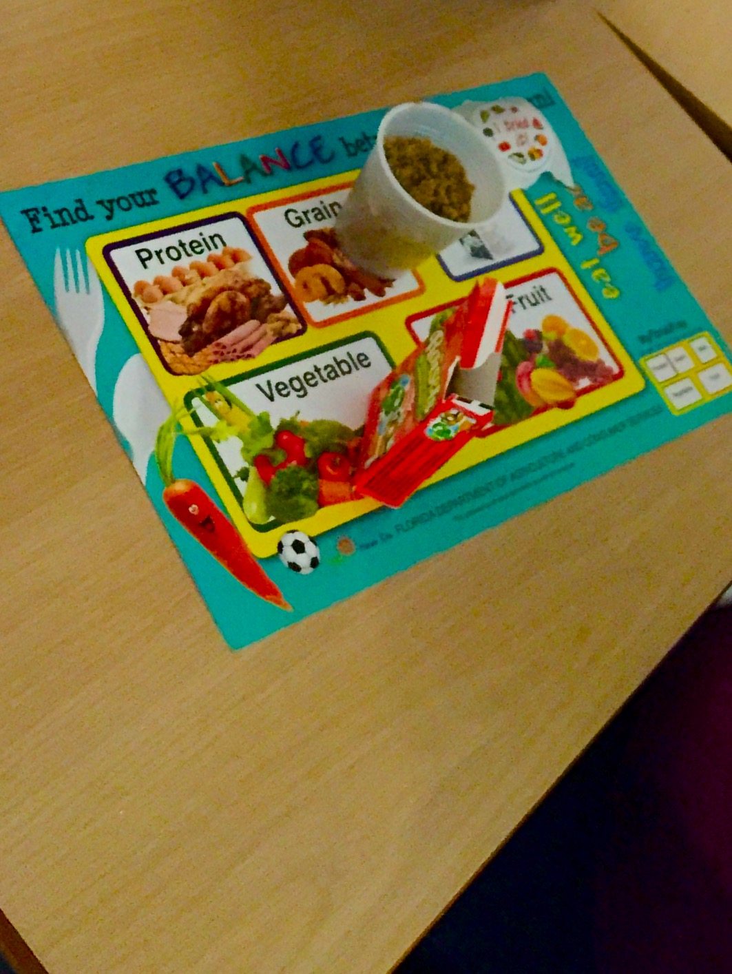 Each student received a MyFloridaTray sheet, a box of Raisels and planted cucumber seeds in a cup.