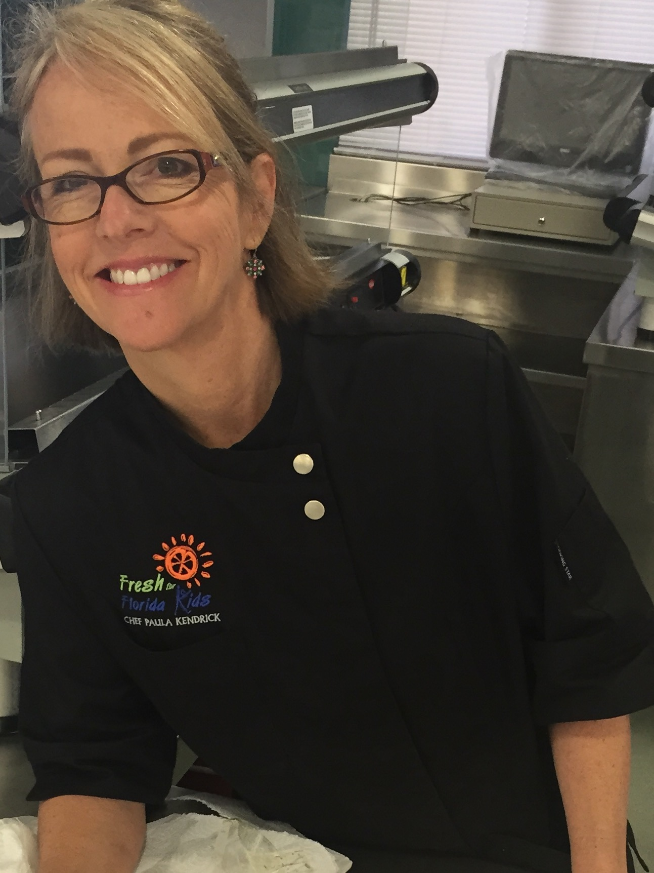 Fresh for Florida Kids Chef Paula Kendrick sampled fresh fruit and vegetable recipes at the Student Taste Plate.
