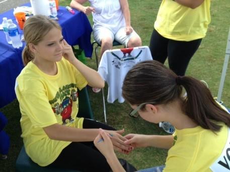 hand painting health fair