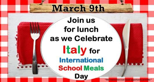 International School Meals Day Italy