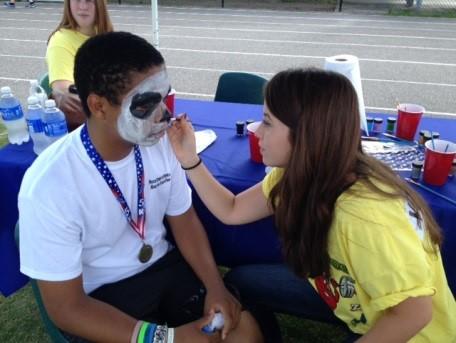 face painting at health fair